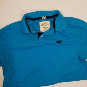 Men's Hollister polo. Never worn large mens blue